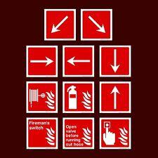 Commutateur de pompier / open valve / Alarm Call Point / sortie-plastique Signe, Autocollant