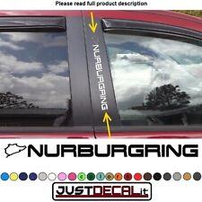 Window Pillar Decal NURBURGRING text sticker emblem logo graphic