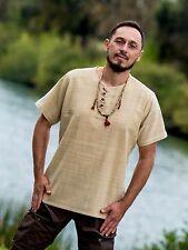 Hemp Shirt 100% Handwoven Hemp Jedi Tribal Rustic Boho Burning Man Yoga Shirt