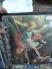 1 STAMPA 26x20 CM angelo san michele su cartoncino photos on cardboard