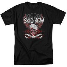 Skid Row Winged Skull Mens Short Sleeve Shirt