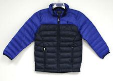 Polo Ralph Lauren Boys Blue Coat Jacket Navy Pony Logo Zipper NEW Down