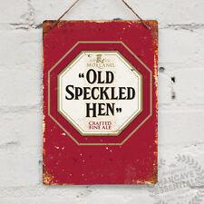 OLD SPECKLED HEN Replica Vintage Metal Wall sign Retro Pub Bar Mancave Beer Ale