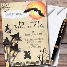 STREGA cattiva casa infestata Personalizzato Inviti Festa Di Halloween