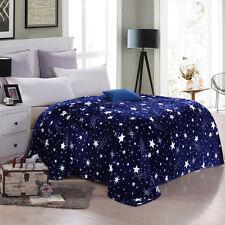 2019 Blue Star Sky Soft Microplush Throw Blanket Rug Plush Fleece Sofa Bed Decor