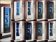 salon vitrine en verre affichage étagère Neo Haute Brillance LED