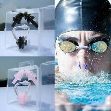 Waterproof Swimming Sports Nose Clip Earplugs Set Silicone Soft Swim Ear Plug