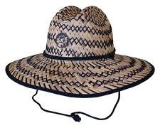 Wallace Headwear - Wide Brim Straw Surf / Beach / Gardening Mens Hat *New*
