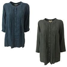 Camicia Donna manica lunga LA FEE MARABOUTEE 100% lino MADE IN ITA
