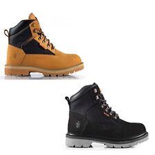 Scruffs TWISTER Safety Hiker Work Boots Black/Tan (Sizes 7-12) Steel Toe