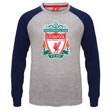 Liverpool FC - Camiseta oficial con mangas raglán - Para niños - Con el escudo