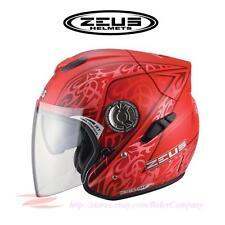 ZEUS ZS-608A Motorcycle Scooter Helmet Fiber Light Weight Jet DOT Safe Approved