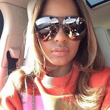 """MIRROR """"Posche"""" OVERSIZED Women Sunglasses Aviator Flat Top Square Shadz"""