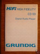 Bedienungsanleitung Grundig CD 101 CD-Player,ORIGINAL