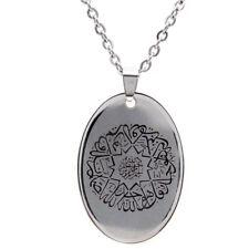 Ikhlas Quran Surah Silver PT Necklace  Islam Muslim Gift Islamic Pendent Allah