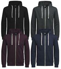 JACK & JONES New Mens Holmen Cotton Zip Up Hooded Sweatshirt Top Hoodie