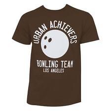 Big Lebowski Bowling League Tee Shirt Brown
