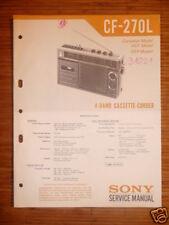 Service-Manual Sony CF-270L  Cassette Corder,ORIGINAL