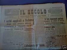 Il Secolo 18/10/1915 L'affondamento dell' Ancona guerra