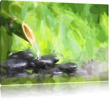 Bambus mit Zen Steinen Leinwandbild Wanddeko Kunstdruck