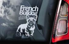 French Bulldog on Board - Car Window Sticker -Bouledogue Français Dog Decal -V04