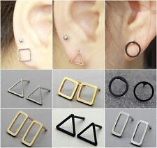 Pair Geometric earrings Minimalist Jewellery Hollow Triangle Ear Studs Cutout