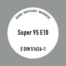 Aufkleber 10cm Super Benzin 95 E10 Kraftstoff Tankstelle Sticker Tank Zapfsäule