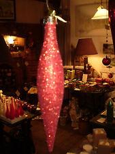 Danés Navidad Red Glitter Vidrio Gota De Adorno