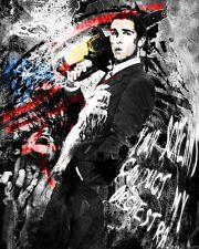 American Psycho Art Print, Patrick Batemen Canvas, Movie Poster