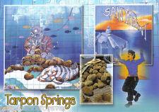 Postcard: Sponge Docks Murals, Tarpon Springs, Florida (2000s)