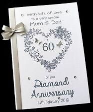 "8"" x 6"" Personalised Wedding Anniversary Card 25th,30th,40th,50th,60th ANY"