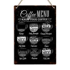Connaître votre café Vintage rétro en métal étain signe plaque décoration Pub Ba...