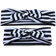 Miss JACKY - Matching Mum & Baby Girls Stretch Top Knot Headband Stripe/Floral