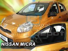 Wind Deflectors NISSAN MICRA mki4 5-doors 2010-2016 2-pc HEKO Tinted