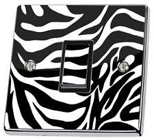 Zebrados Black & White Interruptor De Luz Sticker Decal piel cubierta de vinilo de pared
