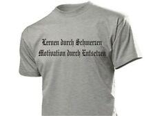 Lernen durch Schmerzen... T-Shirt Biker Gr S-XXL WH Wehrmacht Learn through...