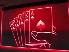 Royal Flush Poker Casino Rule LED Neon Light Sign Home Personalised