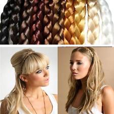 Womens Synthetic Hair Plaited Elastic Headband Braided Hair Band DIY Accessories