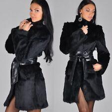 Fashion New Women's Long Genuine Knitted Mink Fur Jacket Coat Outwear Sweater