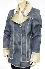 Manteau chaud fausse fourrure bleu jean DDP femme 0677a0cb81a3