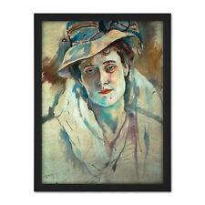 Pascin Portrait Artist Hermine David Painting Large Framed Art Print