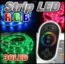 816TN# ruban LED RGB 30 LED/m 5050 au choix 1 à 10m + contrôleur RF touch noir