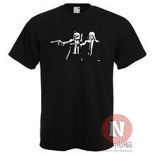 Darth Vader Boba Fett Pulp Fiction style Star Wars printed t-shirt force awakens