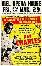 Ray Charles - 1963 - Kiel Opera House - Concert Poster