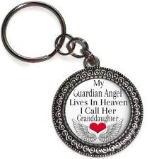 Key Ring GRANDDAUGHTER My Guardian Angel In Heaven Purse Charm Memorial  Gift  2 2b5341897