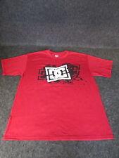 Hombre Auténtico DC Moda Informal skate bmx MX Camiseta S M L Xl Xxl Rojo { 77 }