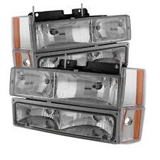 Chevy/GMC 88-93 C/K 1500 2500 3500 Clear Replacement Bumper Corner Headlights