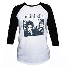 Bikini Kill Camiseta Punk Riot Grrrl feminista Gráfico de Manga 3/4 banda de música Tee