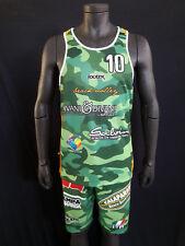 FOOTEX Completo Canotta e Pantaloncino Beach Volley Camouflage Verde