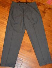 Men's Haggar Charcoal Gray Comfort Waist Suit Up Pleated Dress Pants Size 32X30